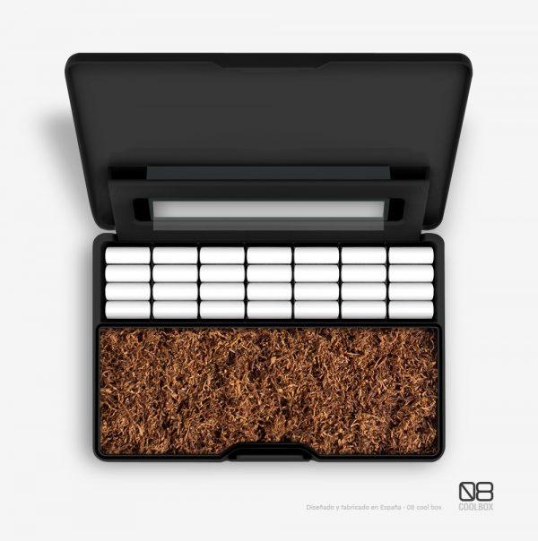caja compartimentos tabaco de liar